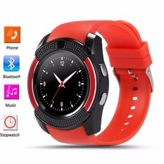 Bluetooth Smart Watch V8 Clock With Sim Tf Card Sync Notifier Smartwatch For Ios Android Round Watch Pk Dz09 Gt08 Sport Watch Intl Lowest Price