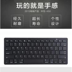 Where To Buy Bluetooth Wireless Keyboard Keypad Ultra Slim For Android Ios Pc Apple Ipad Laptop Black Intl