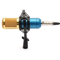 Buy Bm800 Dynamic Condenser Microphone Mic Sound Studio Recording Kit W Shock Mount Blue Online
