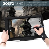 Bosto 13Hd 13 Ips 1920 1080 Graphics Drawing Tablet Board Kit 2048 Pressure Level 2 In 1 Fast Transmission Cable 8 Shortcuts W Rechargeable Pen 20Pcs Refill 8Gb Usb Dish Glove Cleaning Cloth Protective Bag Adjustable Support Intl Price