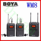 Boya Wm8 By Wm8 Uhf Dual Wireless Lavalier Microphone Systerm Lav Interview Mic 2 Transmitters 1 Receiver For Dslr Video Camera Intl Shopping