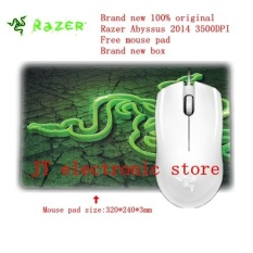Review Brand New Original Razer Abyssus 2014 Ambidextrous Gaming Mouse 3500Dpi Optical Sensor 3 Programmable Hyperesponse Buttons Free Mouse Pad Intl China
