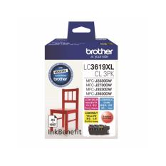 Buy Brother Original Lc3619Cl Xl Value Pack Of 1 Set Cyan Magenta And Yellow Ink Cartridge Super High Yield Mfc J2330Dw Mfc J2730Dw Mfc J3930Dw Brother