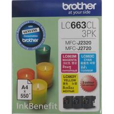 Price Comparisons Brother Original Lc663 Value Pack Of 1 Set Cyan Magenta And Yellow Ink Cartridges Mfc J2320 J2720