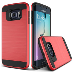 Brushed Protective Case Cover For Samsung Galaxy S6 Edge Red Intl Cheap