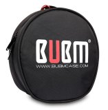 Low Price Bubm Headphone Earphone Headset Carry Case Storage Bag Pouch With Aluminum Alloy Buckle Black