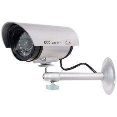 The Cheapest Buy 1 Get 1 Free Free Warning Sticker Bullet Dummy Fake Surveillance Security Cctv Dome Camera Indoor Outdoor With Record Led Light Silver Online