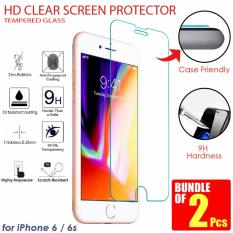 Discounted Bundle Of 2 Pcs Apple Iphone 6 6S Tempered Glass Hd Clear Screen Protector With Hardness 9H