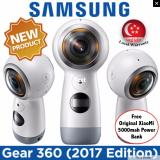 Brand New Bundle Pack Samsung Gear 360 2017 Edition 4K Recording Camera Local Set W Local Warranty W Free Xiaomi Powerbank 5000Mah
