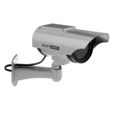 Buy 1 Get 1 Free Free Warning Sticker Waterproof Indoor Outdoor Solar Powered Led Fake Simulated Dummy Ccd Surveillance Security Camera With Blinking Light Cheap