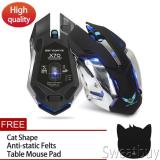 Recent Buy 1 Get 1 Free Gift 2 4G Wireless Rechargeable Gaming Optical Mouse For Pc Computer Black Intl