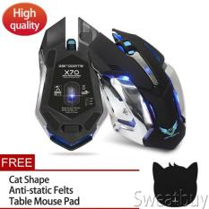 Sale Buy 1 Get 1 Free Gift 2 4G Wireless Rechargeable Gaming Optical Mouse For Pc Computer Black Intl Oem Online