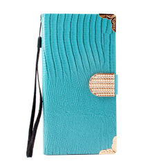 BUYINCOINS Fashion Crocodile Diamond Leather Cover for Samsung Note 5 (Black)