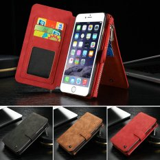 BUYINCOINS Leather Removable Wallet Magnetic Flip Card Case Cover for iPhone6/iphone7/iphone6 plus