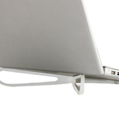 Buytra Laptop Cooling Stand Portable Plastic  white (EXPORT)