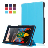 Review Byt Kst Pattern Leather Flip Cover For Lenovo Tab3 7 Essential Tb3 710F Light Blue Oem On China