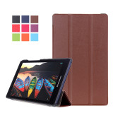 How To Get Byt Kst Pattern Solid Color Tablet Leather Flip Cover Case With Stand Function For Lenovo Tab 2 A8 50 Brown