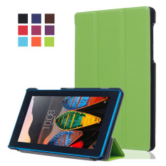 Top 10 Byt Kst Pattern Solid Color Tablet Leather Flip Cover Case With Stand Function For Lenovo Tab 3 7 Essential Tb 710F I Green