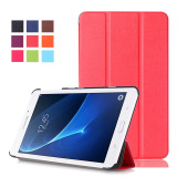 Shop For Byt Kst Pattern Solid Color Tablet Leather Flip Cover Case With Stand Function For Samsung Galaxy Tab A 7Inch T280 T285 Red