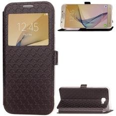 BYT Leather Flip Cover Case for Samsung Galaxy J5 Prime / On5 2016 with Window View