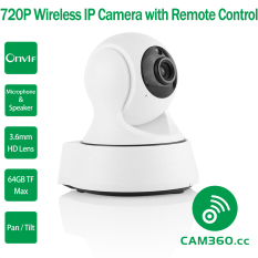 Sale Cam360 720P Mega Pixel Pan And Tilt Onvif Wifi Baby Monitor Ip Camera With Audio In And Out And Remote Smartphone App Access Oem On China