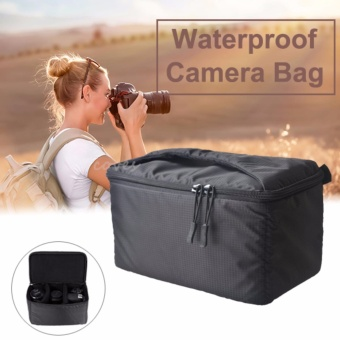 Big Saving When You Buy Cameras Camera Cases Covers And Bags Portable Waterproof Camera Insert Partition Inner Padded Bag Protective Case Zipper Bag For Slr Dslr Black Intl Big Deal