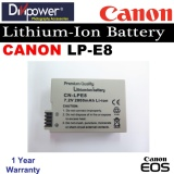 Price Canon Lp E8 Lithium Ion Battery For Eos Dslr Camera By Divipower On Singapore