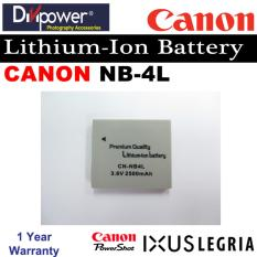 Compare Canon Nb 4L Lithium Ion Battery For Powershot Ixus Camera By Divipower Prices