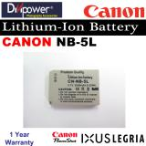 New Canon Nb 5L Lithium Ion Battery For Powershot Ixus Camera By Divipower