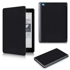 Case For 2016 New Kobo Aura One 7.8 inch eReader Ebook Folio PU Leather Case Cover Protective + Free Gift Black - intl
