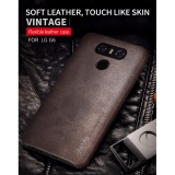Discount Vintage Pu Leather Case Luxury Back Cover Phone Case For Lg G6 Intl Oem