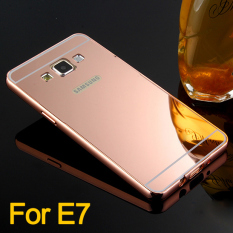 Recent Case For Samsung Galaxy E5 Luxury Metal Bumper Frame And Mirror Pc Back Case Rose Gold Intl