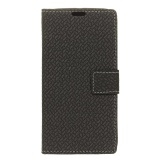Case For Samsung Galaxy Note 8 Woven Pattern Leather Wallet Case Cover Black Intl Lower Price