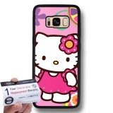 Brand New Case88 Snap On Hard Case With Black Tpu Bumper Warranty Card For Samsung Galaxy S8 Hello Kitty Collection 0625 Intl