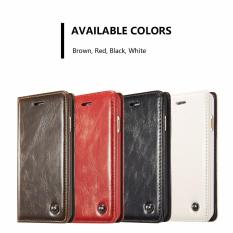 Buying Caseme Luxury Magnetic Leather Stand Wallet Phone Case For Iphone 7 Plus Intl