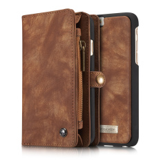 Caseme Pc Leather Vintage Split Wallet Cover For Iphone 6S Plus 6 Plus Coffee Shopping