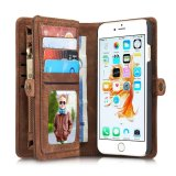 Discounted Caseme Retro Split Leather Multi Slot Flip Wallet Case For Apple Iphone 7 Intl