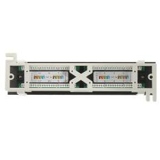 Cat5E Pro Rj45 Network Mini Patch Panel Wall Mount Rack Surface Bracket 12 Port Intl Deal