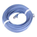 Buy Cat6 Ultra Thin Flat Ethernet Network Lan Cable Length 30M Blue Cheap On China