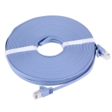Recent Cat6A Ultra Thin Flat Ethernet Network Lan Cable 20M Blue Export