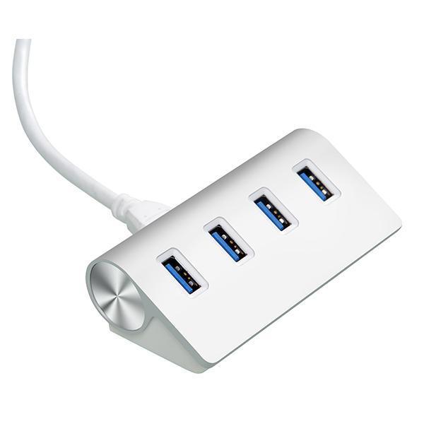 Cateck Bus-Powered USB 3 0 Premium 4 Port Aluminum USB Hub (White)
