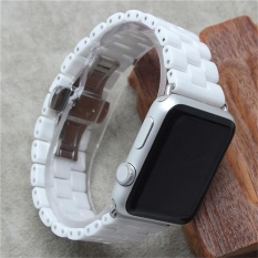 Buying Ceramic Closure Strap Replacement Wrist Band For Apple Watch Series 1 2 42Mm Wh Intl