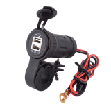 Cheer 12V 24V 3 1A Motorcycle Car Dual Usb Power Charger Port Plug Practical Black In Stock