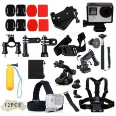 Discount Chest Strap Head Mount Monopod Accessories Kit Case For Hero Session 6 5 4 3 And Other Action Camera Intl Oem