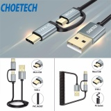 Choetech 2 Pack 2 In 1 Usb Type C Micro Usb Cable Straight Coiled For Samsung Galaxy S8 S8 Plus Htc 10 And More Intl Price