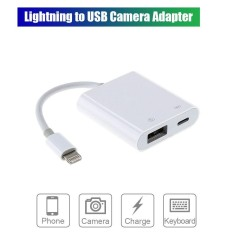 Sale Chunzao Lightning To Usb Camera Adapter Practical For Ios White Intl Oem