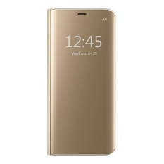 Buy Cheap Clear View Flip Stand Case Cover For Samsung Galaxy Note 5 Gold Intl