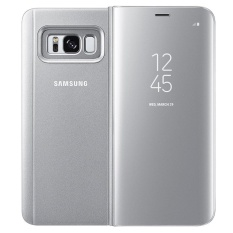 Best Offer Clear View Standing Flip Case Smart Cover For Samsung Galaxy S8 Plus Black Intl