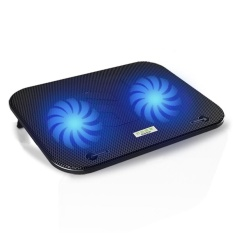 COOLCOLD F3 Mute Dual Fans Laptop Cooling Pad with Two USB Hubs - Black - intl