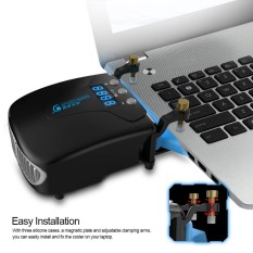COOLCOLD K36 USB Laptop Fan Cooler with Temperature Display Notebook  Radiator Rapid Cooling Adjustable Speed Auto-Temp Detection - intl Singapore